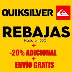 Chollo - Rebajas Quiksilver hasta -50% + Cupón -20% Extra + Envío Gratis