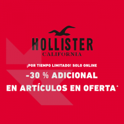 Chollo - Rebajas hasta -50% + 30% Extra + 10€ en Hollister