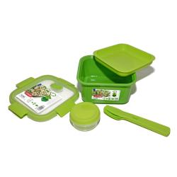 Chollo - Recipiente hermético Curver Smart To Go Lunch 1.1L con cubiertos y salsera