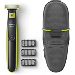 Chollo - Recortador de barba Philips OneBlade QP2520/65 + 3 peines-guia + Funda
