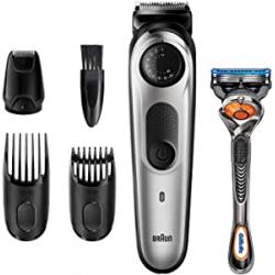 Chollo - Recortadora de barba Braun BT5265 con maquinilla Gillette Fusion5 ProGlide