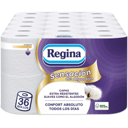 Chollo - Regina Sensación de Algodón Papel Higiénico 36 Rollos