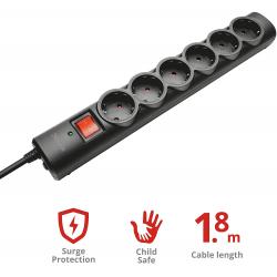 Chollo - Regleta Trust Surge Protector 6 Tomas con Protección (21059)
