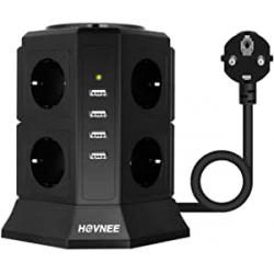 Chollo - Regleta vertical Hovnee 8x Tomas + 4x USB