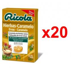 Chollo - Ricola Hierbas-Caramelo Caramelos de hierbas suizas Pack 20x 50g