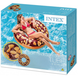 Chollo - Rueda hinchable Donut chocolate Intex (114 cm)