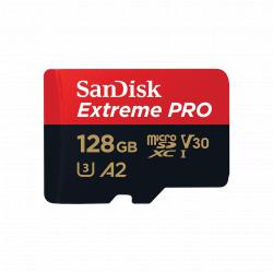 Chollo - SanDisk Extreme PRO 128GB U3 V30 A2 Tarjeta microSDXC + Adaptador SD | SDSQXCY-128G-GN6MA