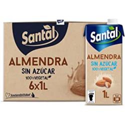 Chollo - Santal Bebida vegetal de almendra sin azúcar Pack 6x 1L