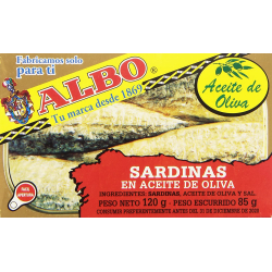 Chollo - Sardinas en aceite de oliva Albo 3/4 120g