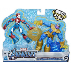 Chollo - Set 2 Figuras Bend And Flex Iron Patriot Vs Thanos Dualpack (Hasbro E91975L0)