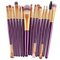 Chollo - Set de 15 Brochas y Pinceles de Maquillaje