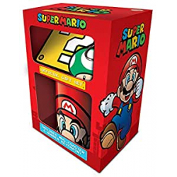 Chollo - Set Super Mario Taza + Posavasos + Llavero