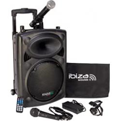 Chollo - Sistema de sonido portátil Ibiza Sound PORT10VHF-BT 250W Bluetooth