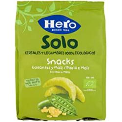 Chollo - Snack de guisantes y maíz ecológicos Hero Baby Solo 50g