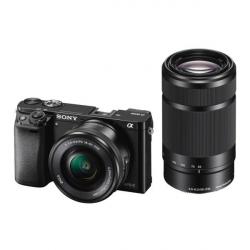 Chollo - Sony Alpha ILCE 6000 Cámara Evil con Objetivos 16-50 + 55-210 mm