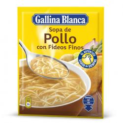 Chollo - Sopa Deshidratada de Pollo con Fideos Finos Gallina Blanca (71g)