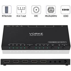 Chollo - Switch HDMI Vorke HD41 Pro 4x1