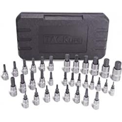 Chollo - Tacklife HBS1C Juego de llaves de vaso Torx + Allen 33 piezas