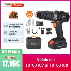 Chollo - Taladro Percutor Tacklife PCD04B con 2 Baterías +Accesorios + Maletín