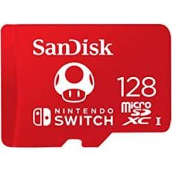 Chollo - Tarjeta microSD 128GB SanDisk U3 V30 con licencia Nintendo para Nintendo Switch -  SDSQXAO-128G-GNCZN