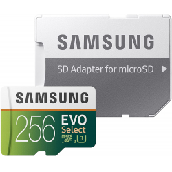 Chollo - Tarjeta microSD 256GB Samsung EVO Select + Adaptador SD - MB-ME256HA/EU