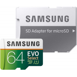 Chollo - Tarjeta microSD 64GB Samsung EVO Select + Adaptador SD - MB-ME64HA/EU