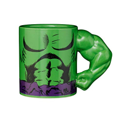 Chollo - Taza Hulk con Brazo 3D Exquisite Gaming