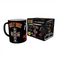 Chollo - Taza Termocromática Guns N' Roses Cross (MGH0062)