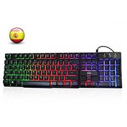 Chollo - Teclado Gaming Rii RK100+ Rainbow
