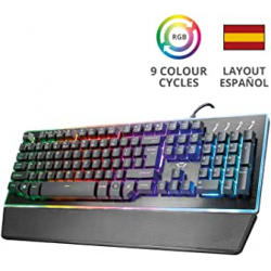 Chollo - Teclado semi-mecánico LED RGB  Trust Gaming GXT 860 Thura