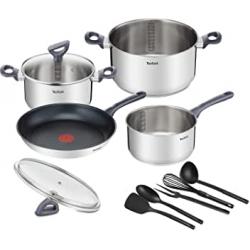 Chollo - Tefal Daily Cook Set Sartenes y Cazos 4 Piezas + 5 Utensilios