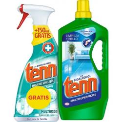 Chollo - Tenn con bioalcohol fregasuelos multisuperfícies 300 ml + limpiador multiusos higienizante sin lejía spray 650 ml