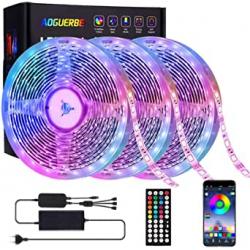 Tira LED Bluetooth RGB AOGUERBE 15m