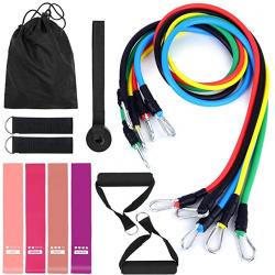 Chollo - Tomshoo Set fitness: Bandas de resistencia + Cintas elásticas + Accesorios