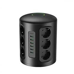 Chollo - Torre Regleta 12 Tomas + 6 puertos USB Aukey PA-S14