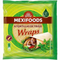 Chollo - Tortillas de trigo Mexifood Wraps 370g