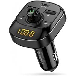 Chollo - Transmisor FM  Bluetooth 5.0 USB-C 18W
