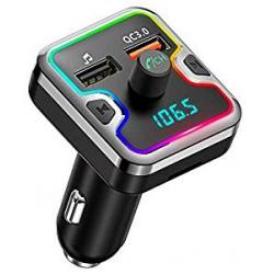 Chollo - Transmisor FM BT5.0 RGB Cocoda T45