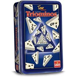 Chollo - Triominos Tour Edition Juego de mesa en caja metálica - Goliath 60632012