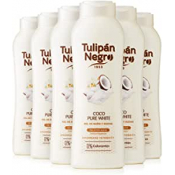 Chollo - Tulipán Negro Coco Pure White Gel de baño y ducha Pack 6x 720ml | 099390000
