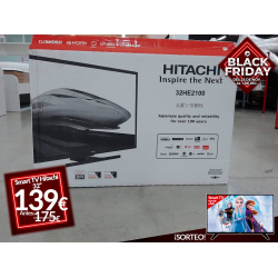 "Chollo - TV Hitachi 32"" Smart TV HDLED 32HE2100 with Alexa"
