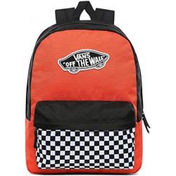 Chollo - Vans Realm Backpack Paprika Checkerboard unisex Mochila 22L | VN0A3UI6ZKF1
