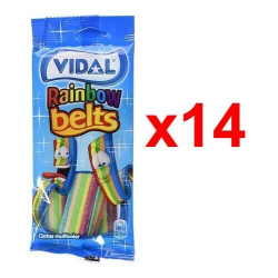 Chollo - Vidal Rainbow Belts Cintas multicolor fresa 100g Pack 14