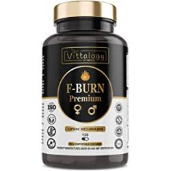 Chollo - Vittalogy F-Burn Premium. Quemagrasas Potente Con Garcinia Cambogia, Té Verde Y Guaraná. Fat Burner Rápido Y Efectivo Para Adelgazar Con Efecto Termog