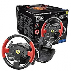 Chollo - Volante + Pedalera Thrustmaster T150 Ferrari Edition para PC/PS3/PS4