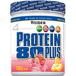Chollo - Weider Protein 80 Plus Fresa Proteína de suero de leche 750g | 30121