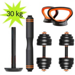 Chollo - Xiaomi FED Kit de Musculación Mancuernas + Barra + Pesa Rusa 30kg