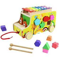 Chollo - Xilófono infantil Autobús de madera | AC AC7643