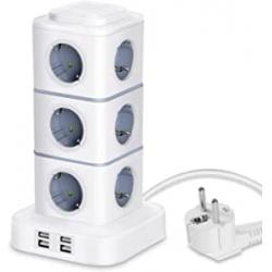 Chollo - Litspot Regleta vertical 12 Tomas + 4 USB